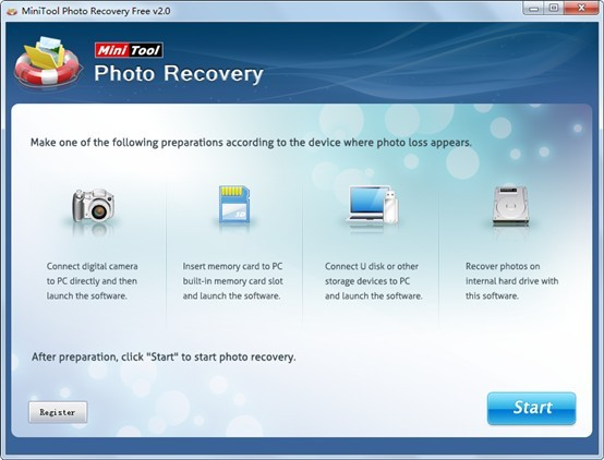 Image-recovery-software-main-interface