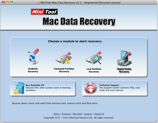 Photo recovery Mac utility