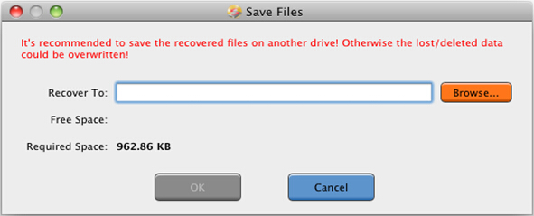 Photo recovery Mac utility Step 3