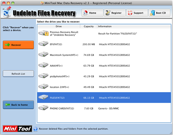 Recover deleted pictures on Mac Step 1