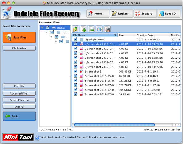 Recover deleted pictures on Mac Step 2