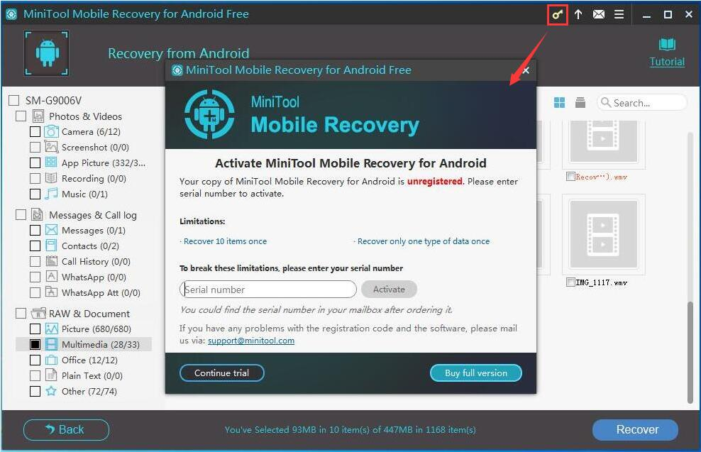how to get back deleted videos on android