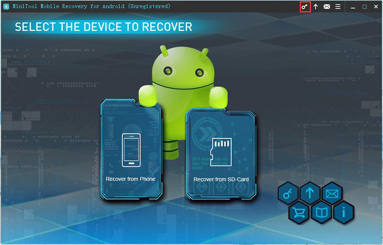 Interface Introduction about MiniTool Mobile Recovery for
