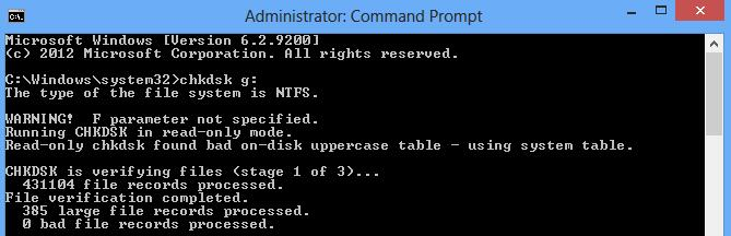 is not accessibleThe parameter is incorrect Data error (cyclic redundancy check