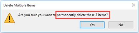 permanently delete