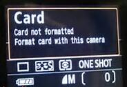 card not formatted