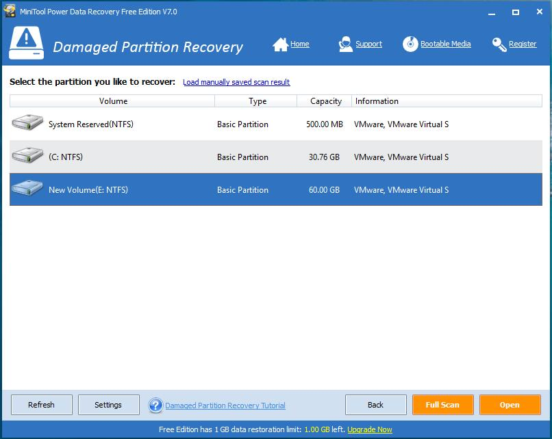 MiniTool Power Data Recovery Free Edition is an easy-to-use and all in one free file recovery software for home users. It not only helps you recover deleted files, but also recovers data from damaged, reformatted hard drive as well. Furthermore, MiniTool Power Data Recovery not only recovers data