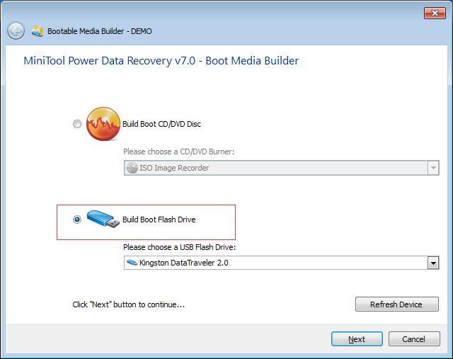 build boot flash drive