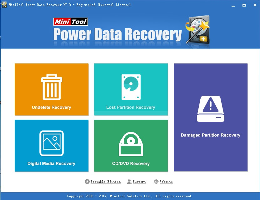 lost desktop files recover usign data recovery software select proper function