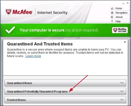 recover antirus deleted files from mcafee