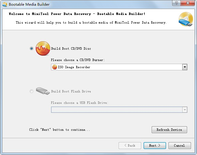 create a bootable CD or flash drive