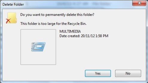 deleted files can be recycled 1