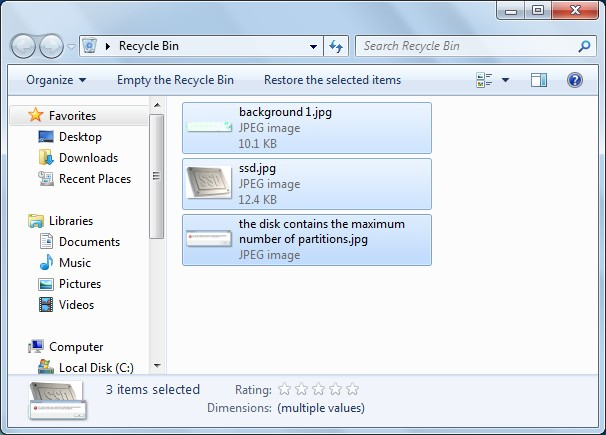 recover deleted files from recycle bin2