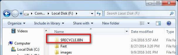 recycle folder