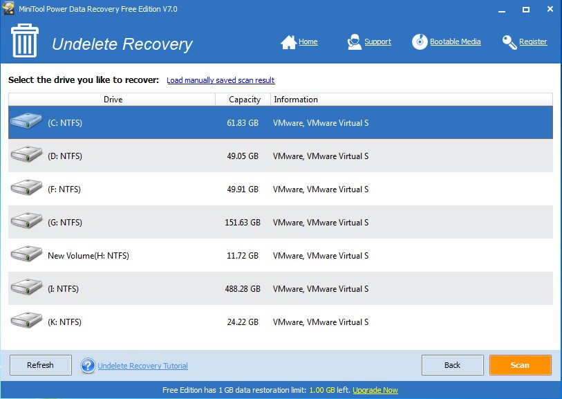 recover mistakenly deleted files select device