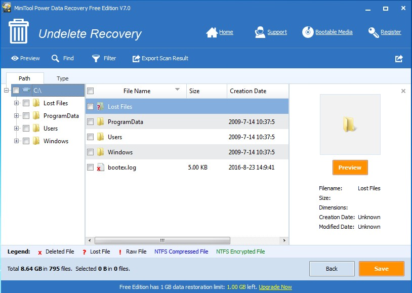 recover mistakenly deleted files save files