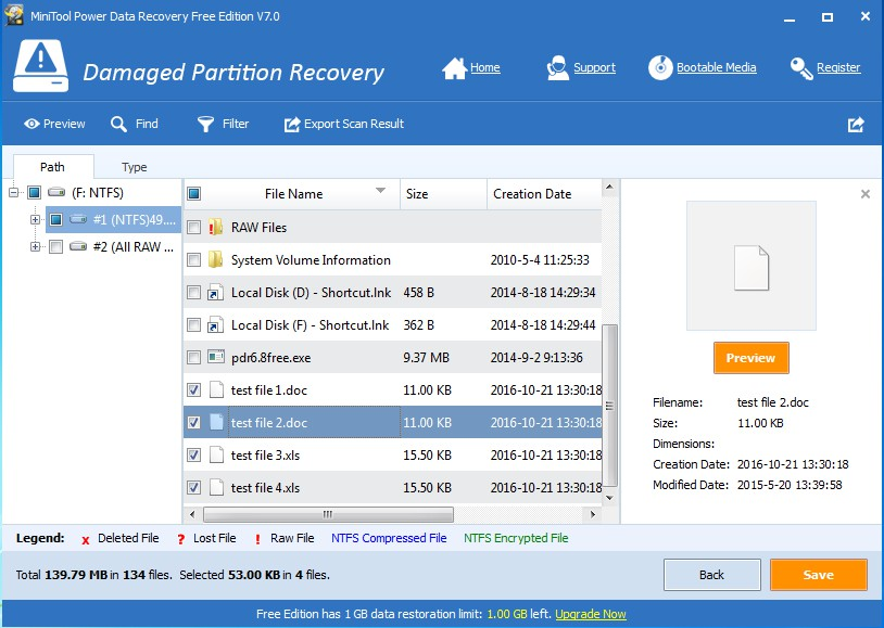 recover data from inaccessible partition save data