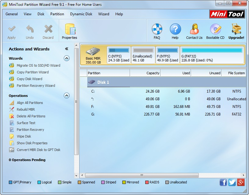 recover partition with partition wizard select the disk holding lost partition