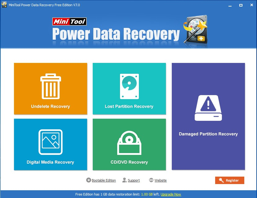 recover data with power data recovery choose correct function