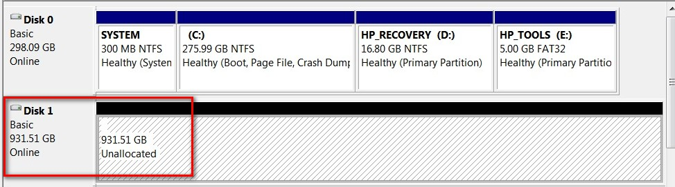 Hard Drive Becomes Unallocated