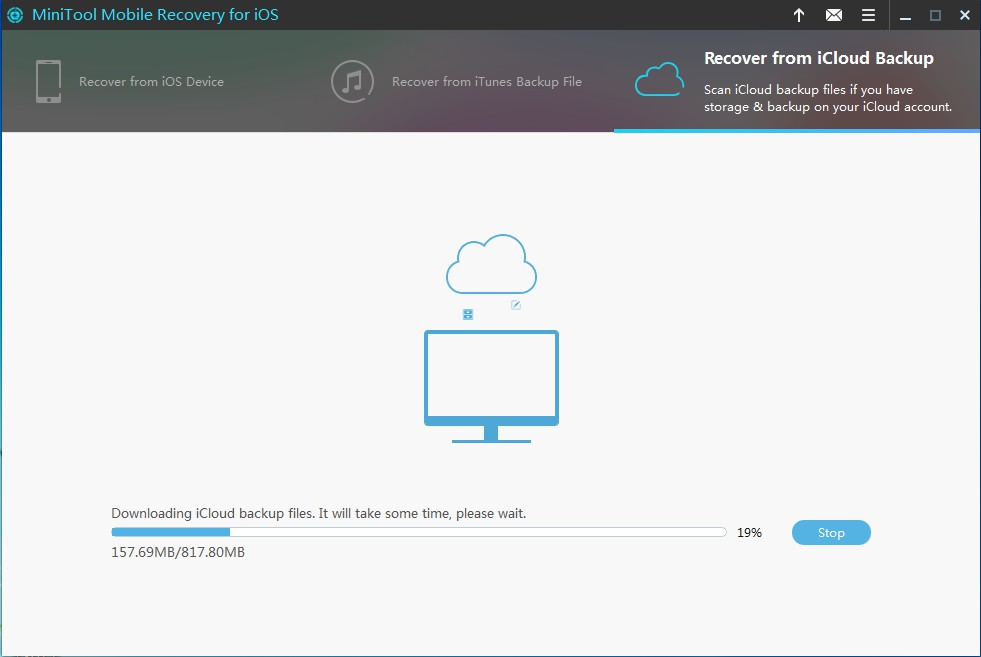recover from iCloud backup file download data