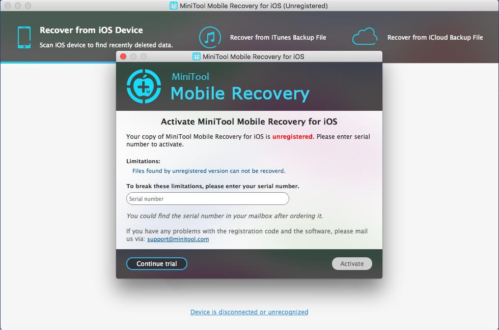 enigma recovery activation code mac