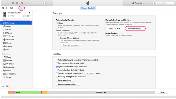 how to clear other on mac itunes backup files