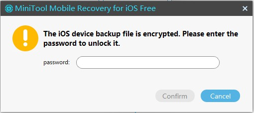 iOS device is encrypted