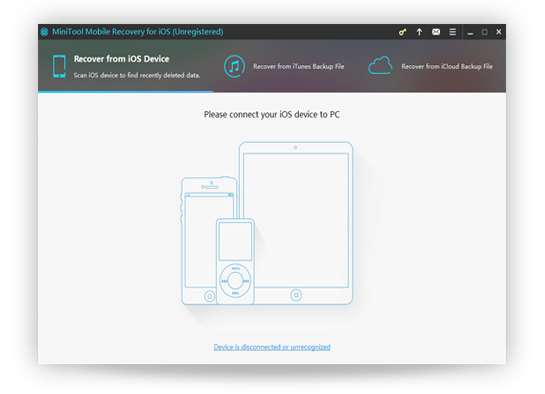MiniTool Mobile Recovery for iOS – iOS 设备数据还原工具[Windows][$49→0]丨反斗限免