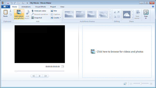 Windows Movie Maker formerly known as Windows Live Movie Maker in Windows well known Screen Shot
