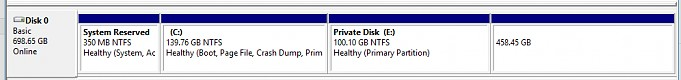 partition layout in disk management