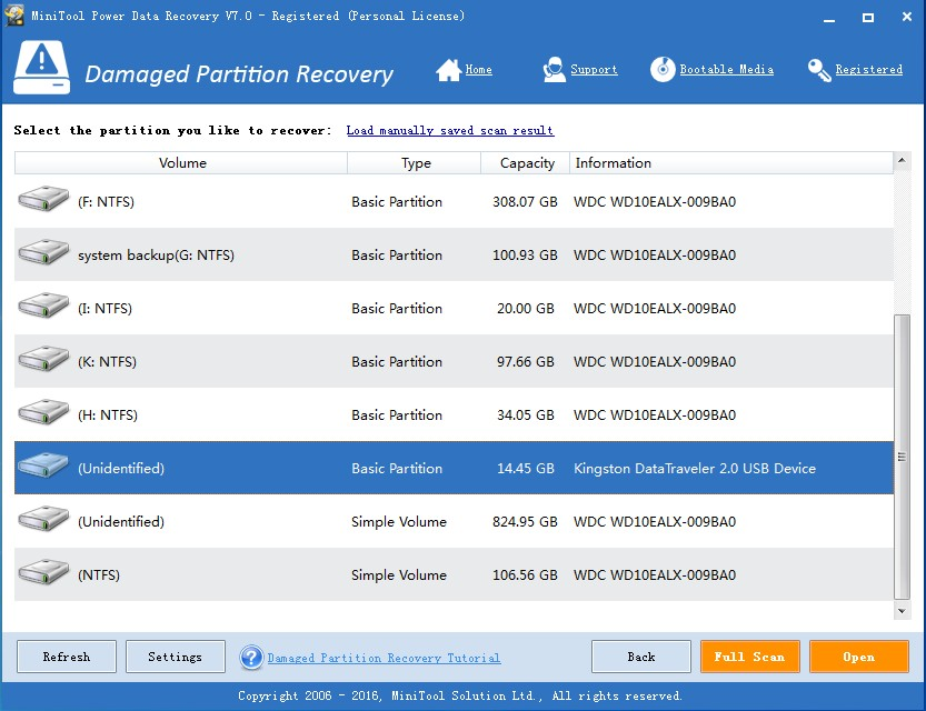 recover data from raw sd card select sd card to scan