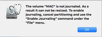 create-HFS+ partition on Mac error message