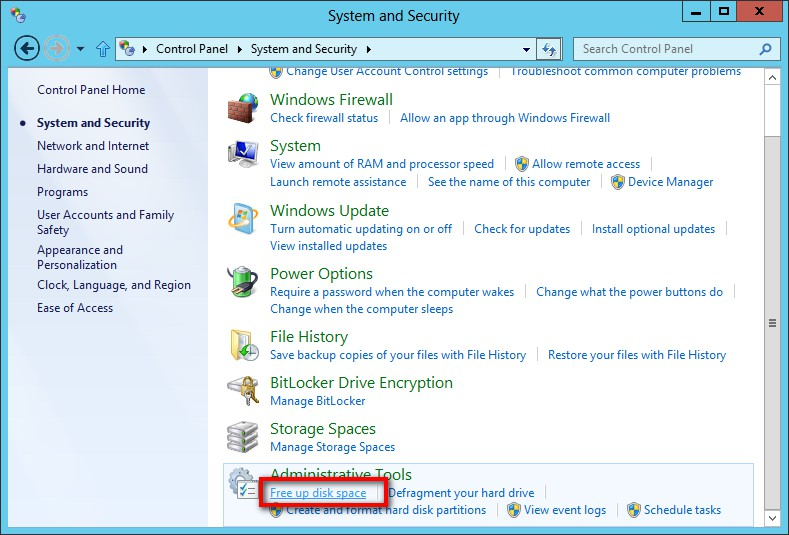 free up space in Windows 8.1