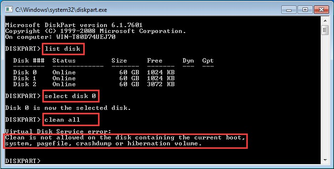 how to wipe your computer clean windows 7 without disk