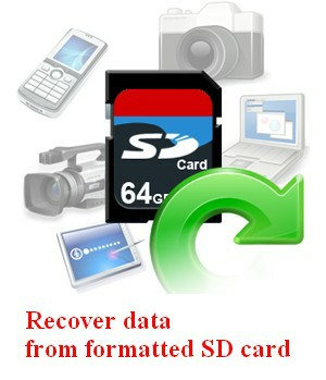 Recover formatted SD card 1