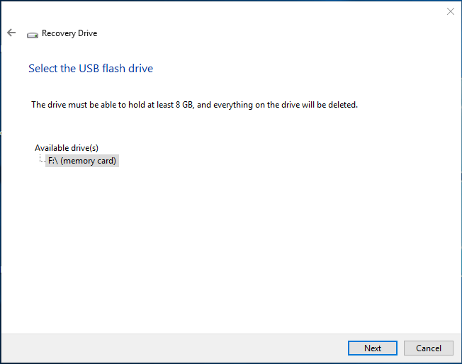 creating a windows 8 recovery disk