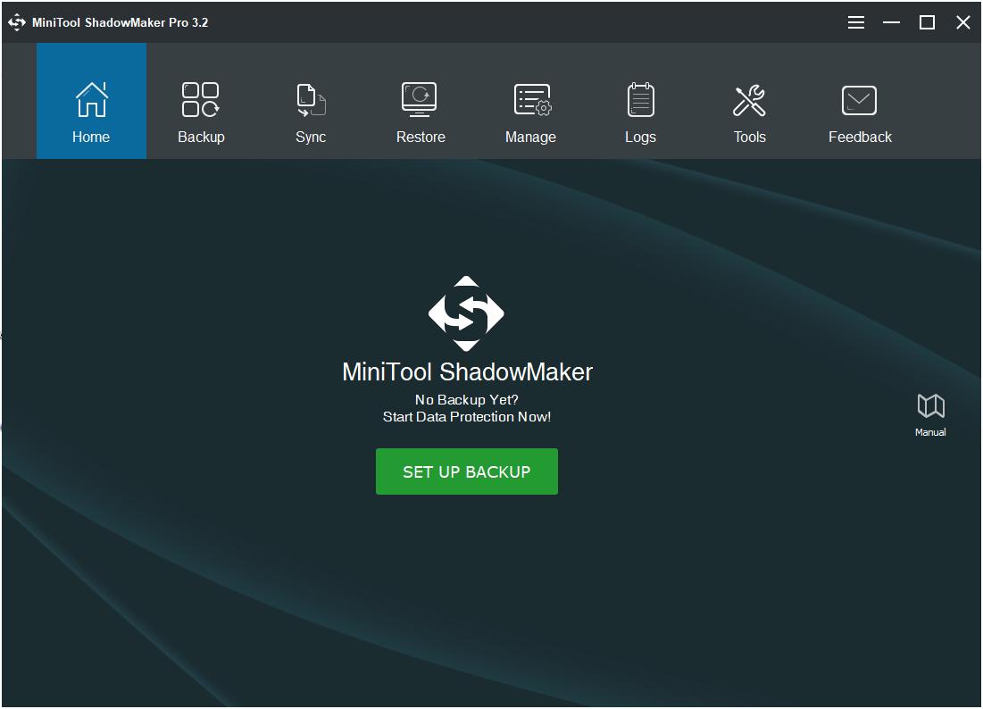 MiniTool ShadowMaker Home Page