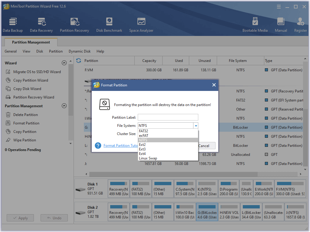 mini partition tool wizard 9.1