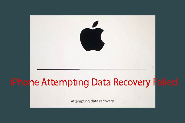 iPhone Attempting Data Recovery Failed? How to Recover Its Data?