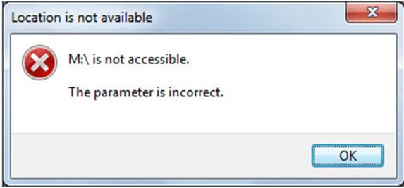 the parameter is incorrect