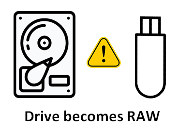 recover data from RAW