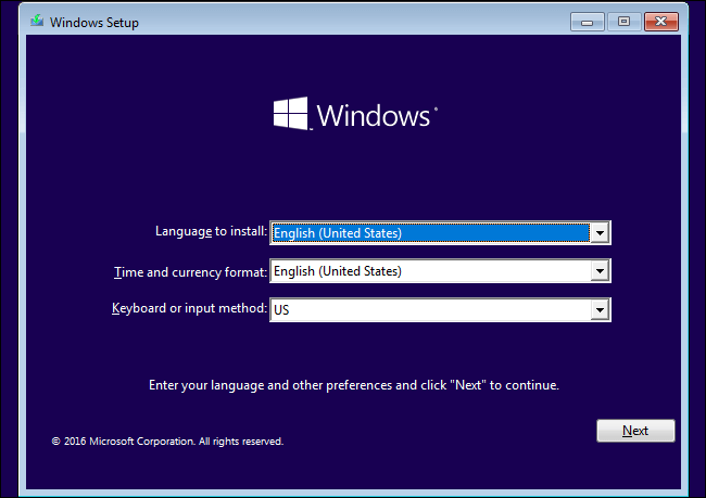 perform Windows 10 clean install