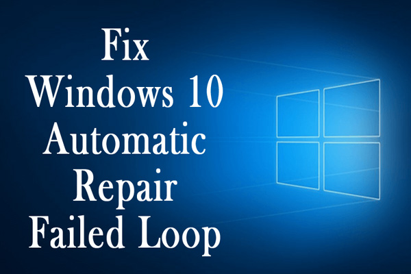 windows 10 startup problem automatic repair