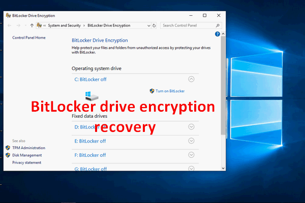 bitlocker drive encryption recovery thumbnail