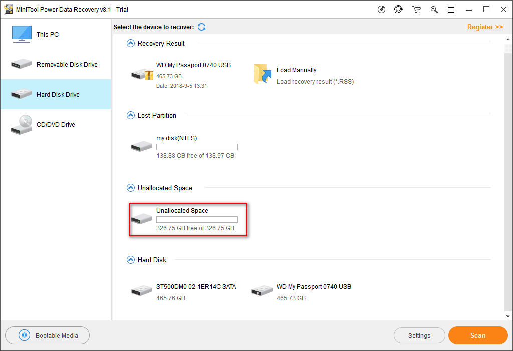 Recover Data From Disk Shows As Unknown Without Damaging It