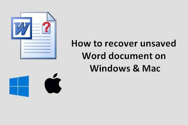 recover lost word document thumbnail