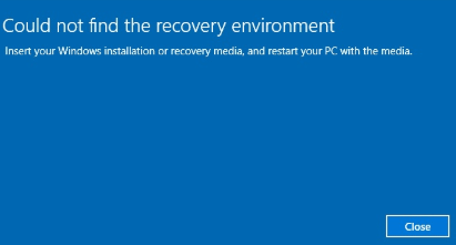 Top 3 Solutions to Could Not Find the Recovery Environment