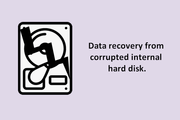Data recovery from corrupted internal hard disk