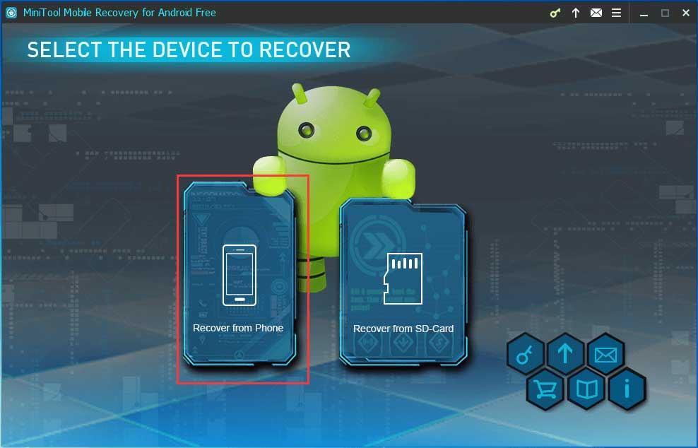 choose recover from phone module